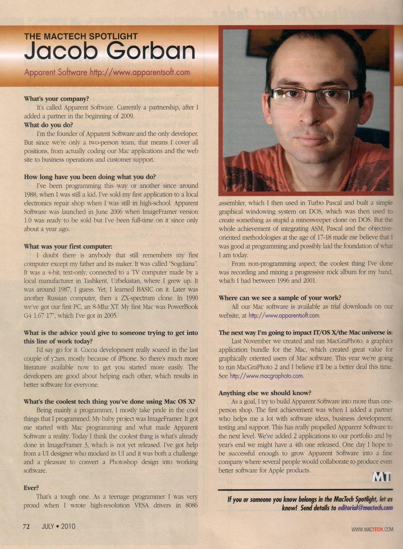 MacTech Jacob Interview