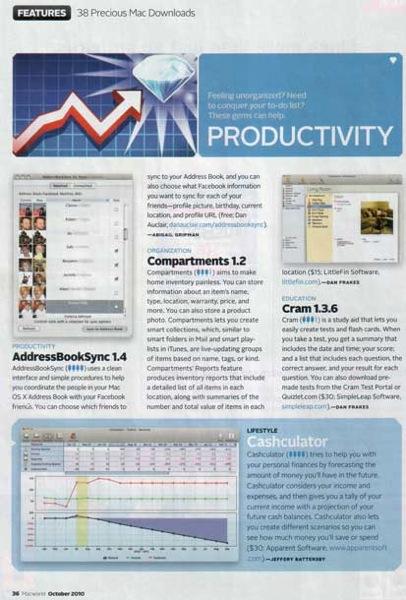 Macworld Cashculator page
