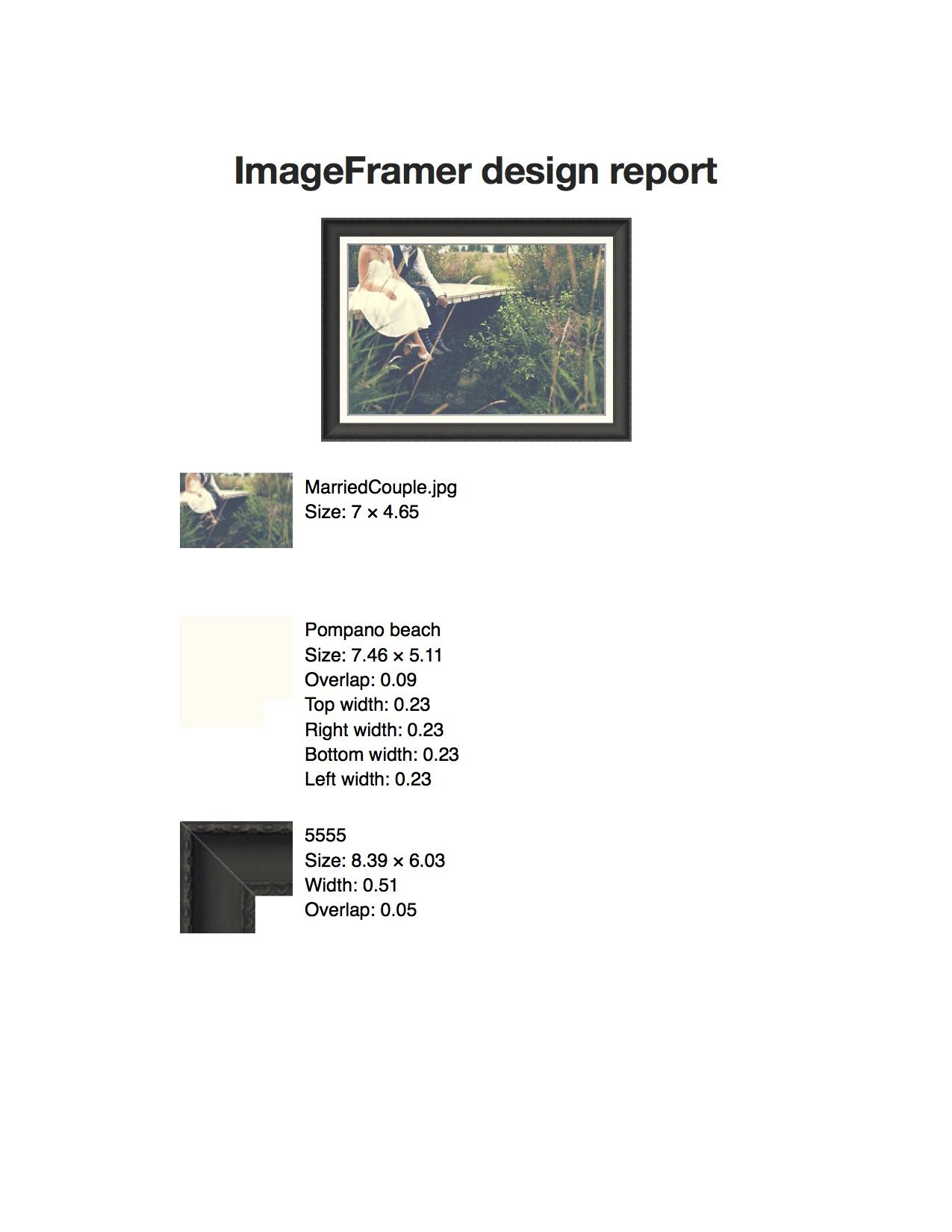 ImageFramer Report
