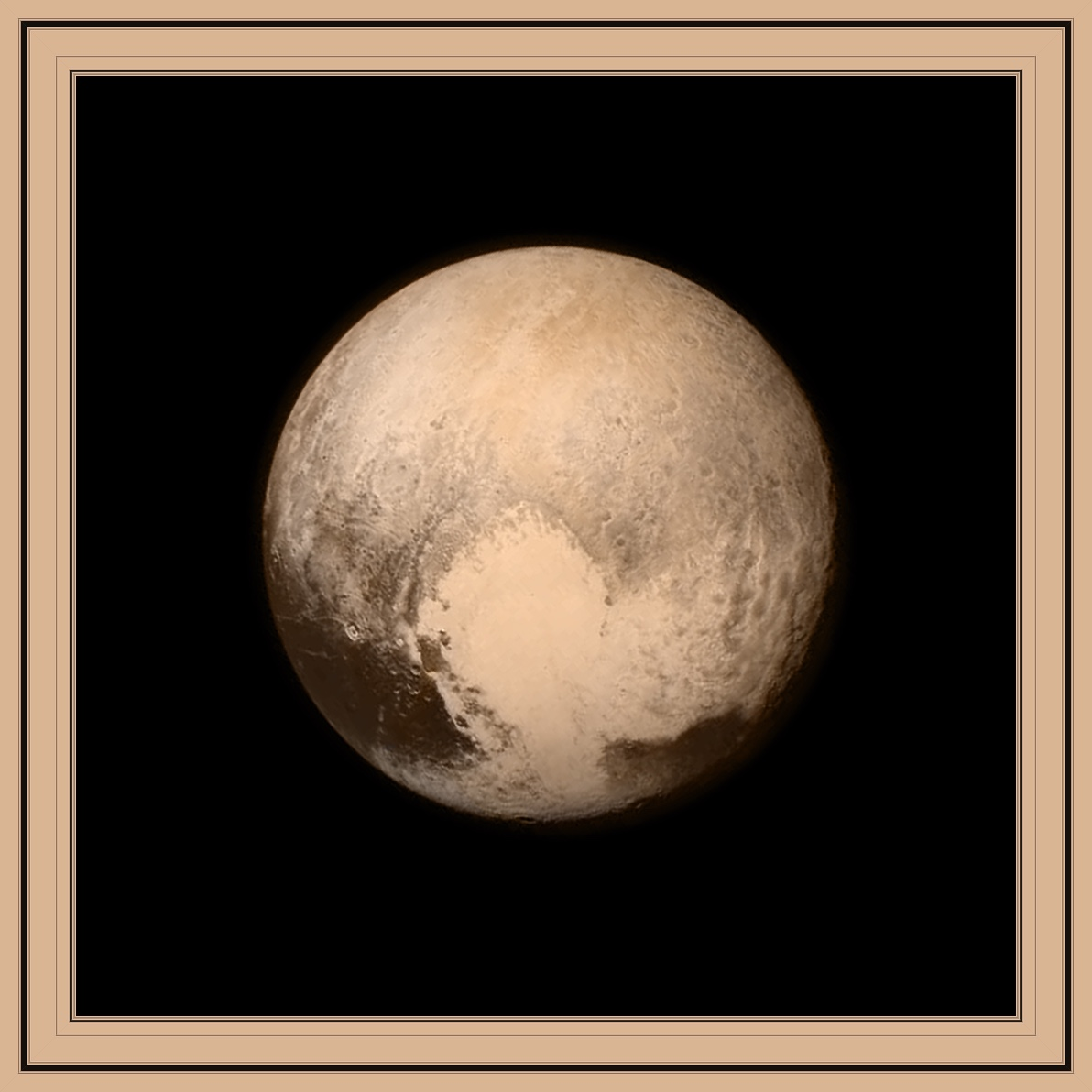 Pluto has been framed
