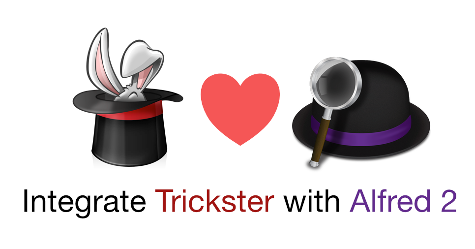Alfred workflow for Trickster