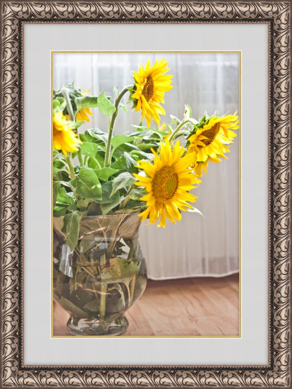 framed flowers